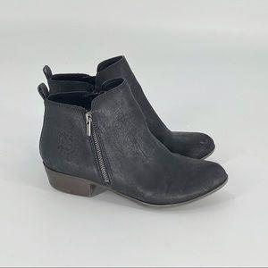 LUCKY BRAND Brona Black Suede Zipper Booties 5